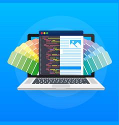 web design concept creating websites designed vector image