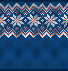 winter knitted wool sweater pattern with vector image