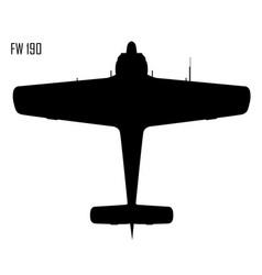 World war ii - focke-wulf fw 190 vector