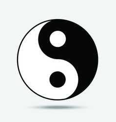 Yin yang symbol of taoism isolated vector