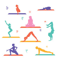 Yoga poses vector