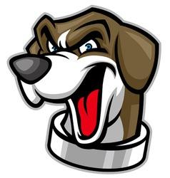 beagle head dog mascot vector image vector image