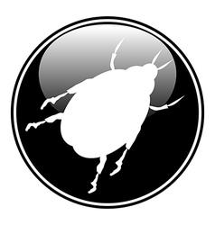 Beetle button vector