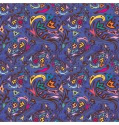 Blue swirl pattern vector image vector image