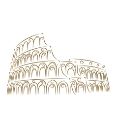 coliseum sketch vector image vector image