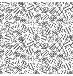 easter eggs gray seamless pattern vector image