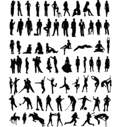 People sillhouettes vector image vector image