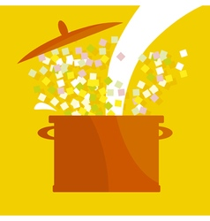 soup pot vector image vector image
