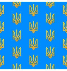 Ukranian trident seamless pattern vector image