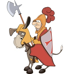 A knight and knightly donkey vector image vector image