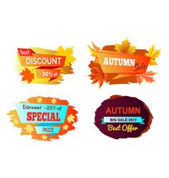 best discount autumn sale vector image vector image
