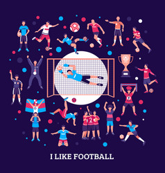 football supporters round composition vector image vector image