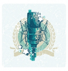 hand drawn studio microphone vector image vector image