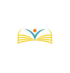 open book school logo vector image