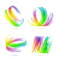 Rainbow colors abstract backgrounds set vector image