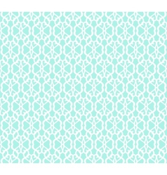 White Forged Seamless Pattern on blue background vector image vector image
