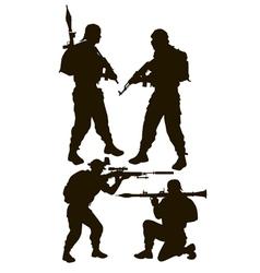 armed rebels vector image vector image