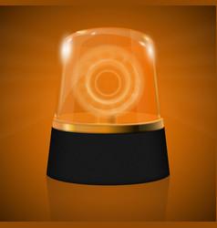 Emergency yellow flashing light warning siren vector