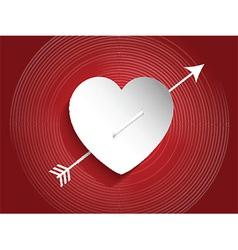Heart design with arrow vector image