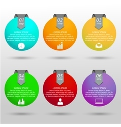 Infographic business balls vector image