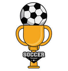 soccer sport ball trophy tournament image vector image