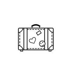 travel bag line icon travel tourism vector image vector image