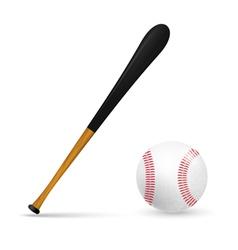 Bat and ball for baseball vector image
