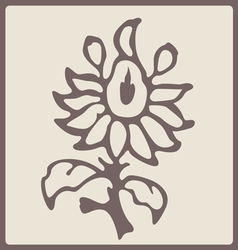 blossom stamp vector image vector image