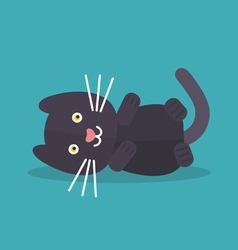 Cat lying vector image vector image