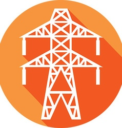 Power Line Icon vector image vector image