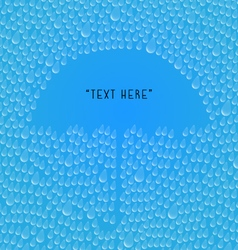 Rain drops with Umbrella space for your text vector image