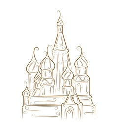 saint basils cathedral vector image vector image