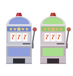 set of flat of slot machines vector image