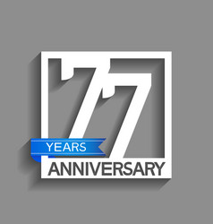 77 years anniversary logotype with white color vector