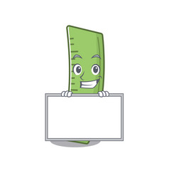 A cute picture ruler grinning with board vector