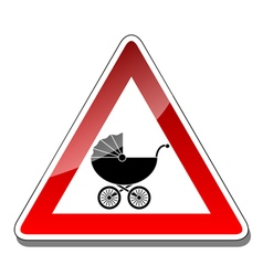 A warning sign baby vector