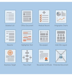 Abstract conceptual web and paper document set vector