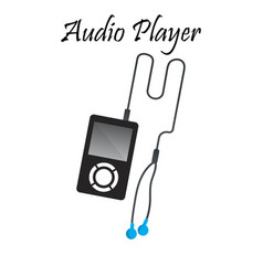 audio or music player vector image