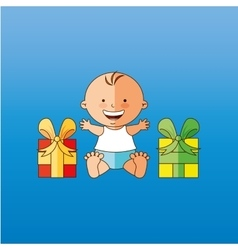 baby shower icon design vector image