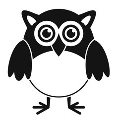 Big eyes owl icon simple style vector