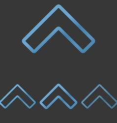Blue line arrow logo design set vector