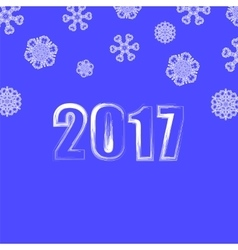 Blue Snowflake Winter Background vector