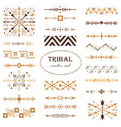 brown tribal set of design elements vector image
