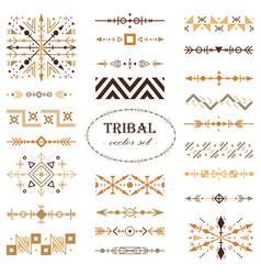 brown tribal set of design elements vector image