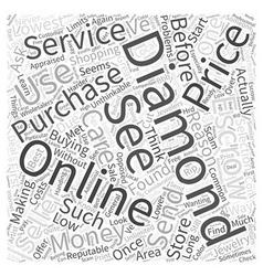 Buying diamonds online word cloud concept vector