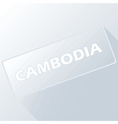 Cambodia unique button vector