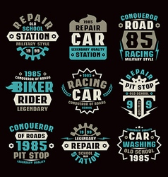 Car repair badges vector