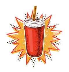 cola cup vector image