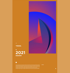 Colorful geometric background design new year 2021 vector