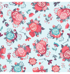 Cute seamless pattern with pattern with roses vector